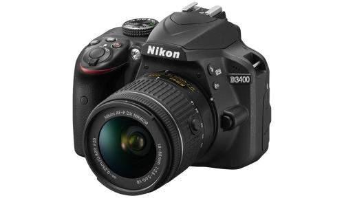 Veidrodinis fotoaparatas NIKON D3400 + 18-55mm VR