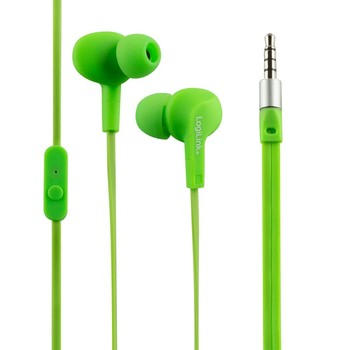 LogiLink Water resistant (IPX6) Stereo In-Ear Headset, Green
