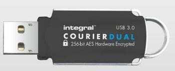 Atmintukas Integral Courier 64GB 3.0 + FIPS 197 Encrypted (R:145MB/s W:45MB/s)