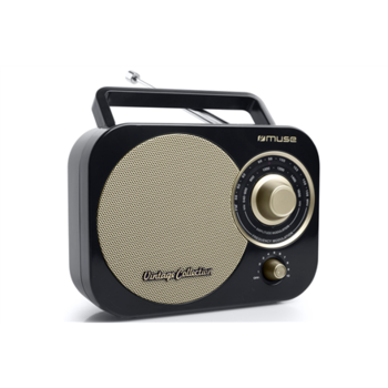Muse Portable radio M-055RB Black/Gold, AUX in
