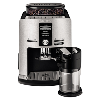 Krups Coffee maker EA82FE Pump pressure 15 bar, Built-in milk frother, Fully automatic, 1450 W, Silver/ black