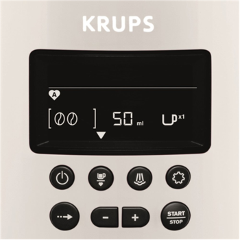 Krups Coffee maker EA8161 Pump pressure 15 bar, Built-in milk frother, Fully automatic, 1450 W, White/black