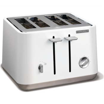 Toaster Morphy richards 240003 White, Plastic, 1800 W, Number of slots 4, Number of power levels 7,