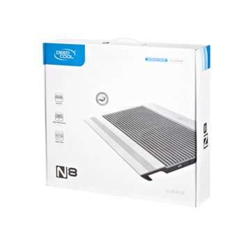 Deepcool Notebook Cooling N8 BLACK, compatible with 17'' notebooks and below