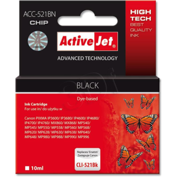 ActiveJet Ink ACC-521BN Canon CLI-521Bk black