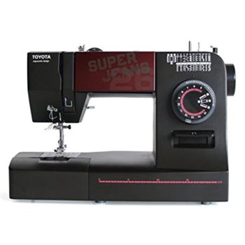Toyota Sewing Machine SUPERJ26 Black, 26 stitch programme, 1-4 Buttonhole