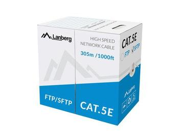 Lanberg SFTP solid cable, CU, cat. 5e, 305m, gray