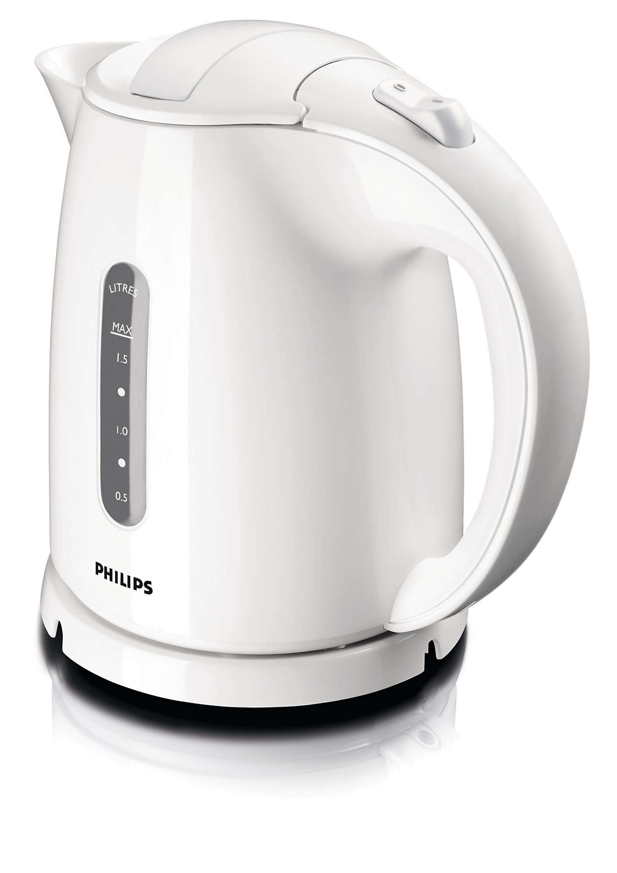 Philips HD4646/00 Standard kettle, Plastic, White, 2400 W, 360