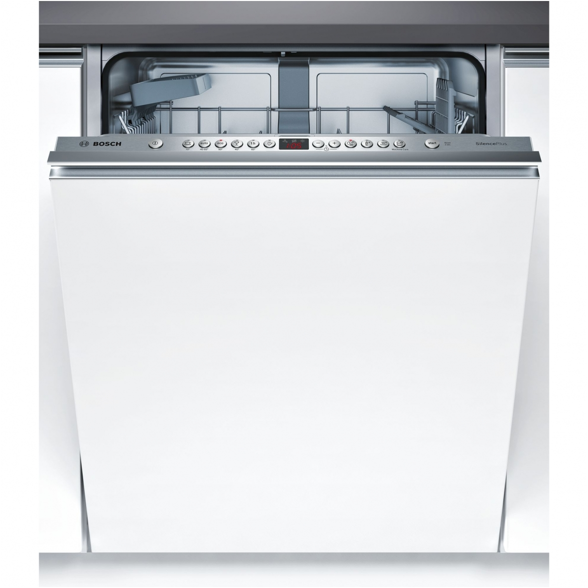 Bosch SilencePlus Dishwasher SMV46CX05E Fully Integrated, Width 60 cm, Number of place settings 13, Number of programs 6, A+++, Display Yes, AquaStop function, Stainless steel