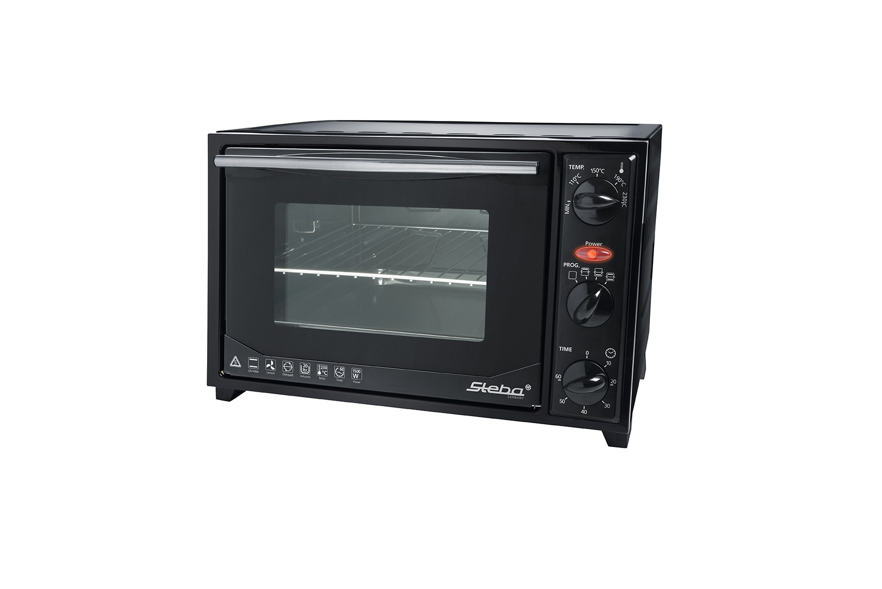 Steba Grill and bake oven KB27U.3 20 L, Black, 1500 W