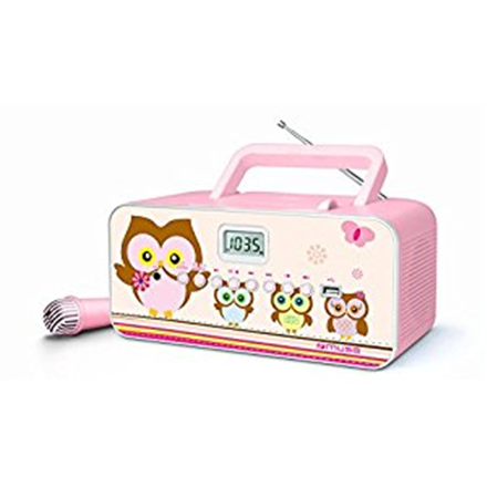 Muse M-29KP Pink/Image, Portable radio CD/MP3 player with USB, 30 W,