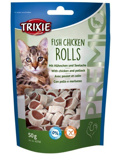 Trixie 42702 Premio Rolls with Chicken and Pollock Snack 50g