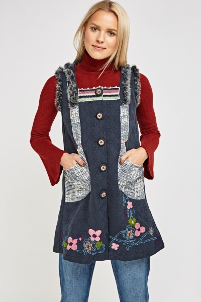 Quilted Embroidered Tunic