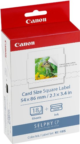 CANON KC-18IS card size, square label