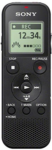 Sony ICD-PX370 MP3, Black, Mono Digital Voice Recorder with Built-in USB, Monaural, MP3 playback, 9540 min