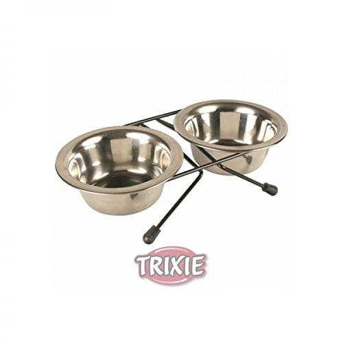 Trixie metaliniai dubenėliai su stovu 2x1,8 l 20 cm