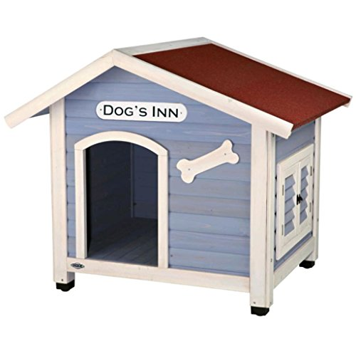 Trixie Natura Dog Kennel With Saddle Roof M: 91 × 80 × 80 cm Light Blue/White