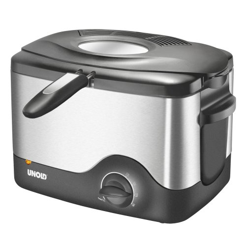 Unold Compact Deep Fat Fryer 58615 Stainless steel/ Black, 1200 W, 1,5 L