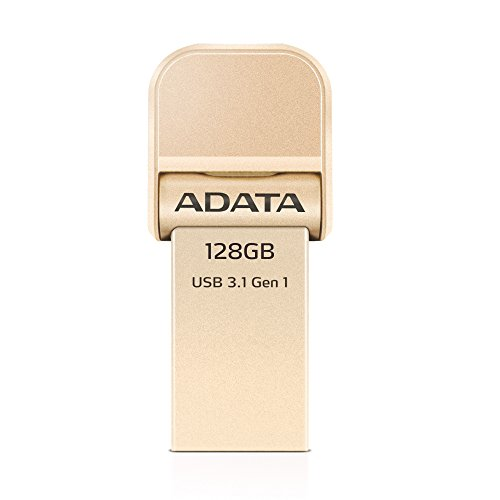 Adata i-Memory Flash Drive AI920, 128GB, Lightning / USB 3.1 Gen1, gold