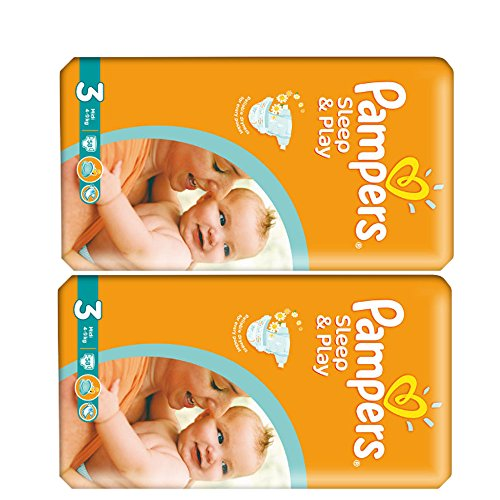 "Pampers Sleep & Play Windeln Midi ""3"" Gr. 4-9 Kg Bis zu 348 Windeln (2 x 58 = 116 Windeln)"
