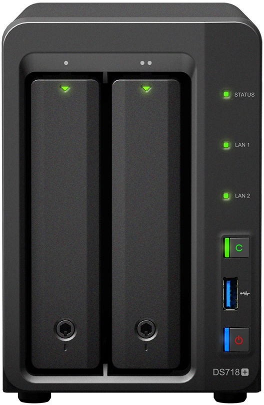 SYNOLOGY DS718+ 2-Bay NAS-case