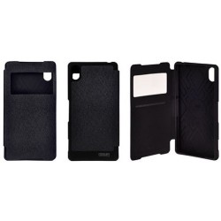 """Juodas atverčiamas dėklas Samsung Galaxy J5 telefonui """"WOW Bumper View Mercury"""""""