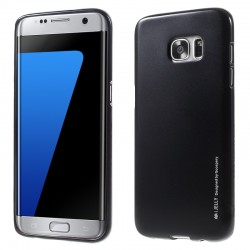 """Juodas silikoninis dėklas Samsung Galaxy S7 Edge telefonui """"Mercury iJelly Case Metal"""""""