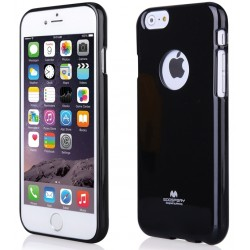 "Juodas dėklas Mercury Goospery ""Jelly Case"" Apple iPhone 6/6s telefonui"