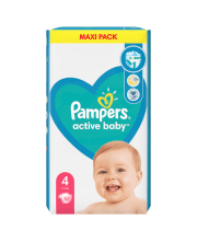 Sauskelnės Pampers Active Baby-Dry 4 dydis 8-14 kg, Maxi 58 vnt
