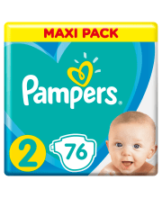 Sauskelnės Pampers New Baby-Dry 2 dydis 3-6 kg, 76 vnt