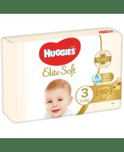 Sauskelnės HUGGIES Elite Soft 3 dydis 5-9 kg 80 vnt