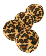 Trixie 4109 Set of Toy Balls with Leopard Print 4pcs