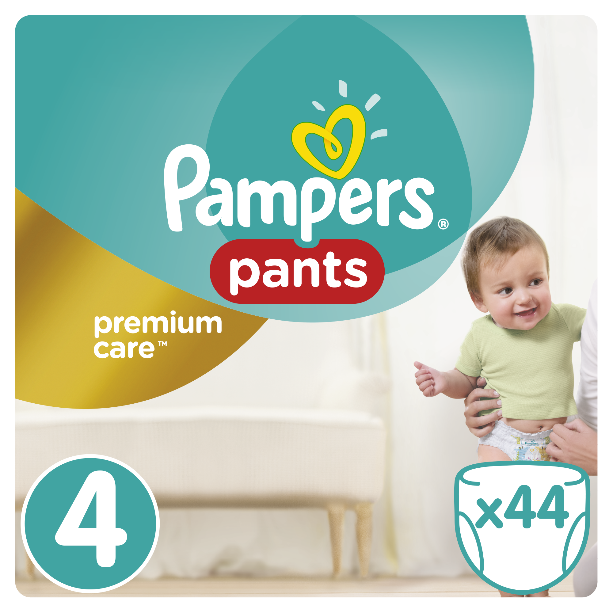 Sauskelnės Pampers Pants Premium Care 4 dydis 9-14 kg, 44 vnt
