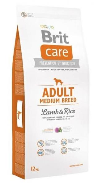 Brit Care Adult Medium Breed Lamb & Rice / avių mėsa ir ryžiai 12 kg