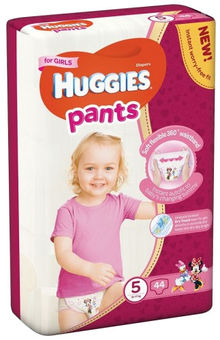 Sausk.keln.HUGGIES GIRLS(5)12-17kg,44vnt