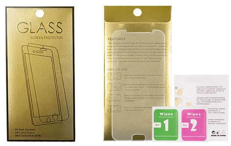 Gold Tempered Glass Screen Protector For Sony Xperia XZ