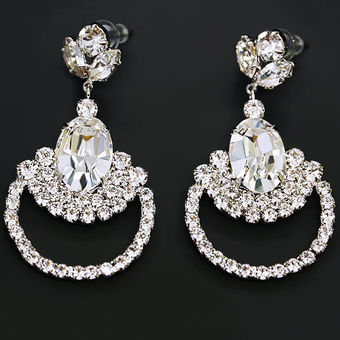 Diamond Sky Earrings With Swarovski Elements Adors