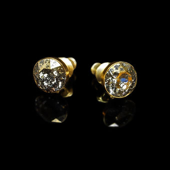 Diamond Sky Earrings With Swarovski Elements Classic Gold Patina