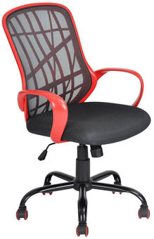 Senukai Office Chair Desert WB Black/Red