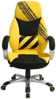 Senukai Office Chair Dee Tire Yellow/Black
