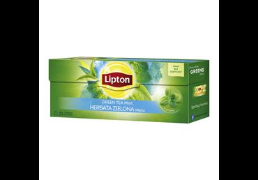 Žalioji arbata LIPTON GREEN TEA MINT su mėtomis, 25 vnt.
