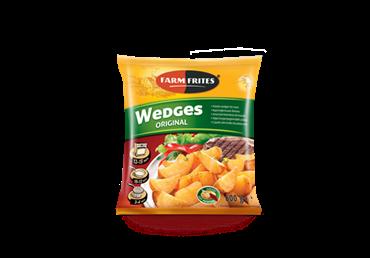 Šaldytos bulvės FARM FRITES su lupenomis, 0,6 kg