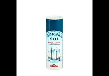 Smulki valgomoji jūros druska DROGA su jodu, 250 g
