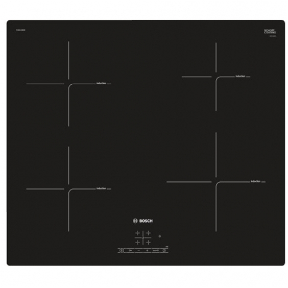 Bosch PUE611BB2E Bosch Bosch PUE611BB2E Induction Hob, Number of burners/cooking zones 4, Black, Timer