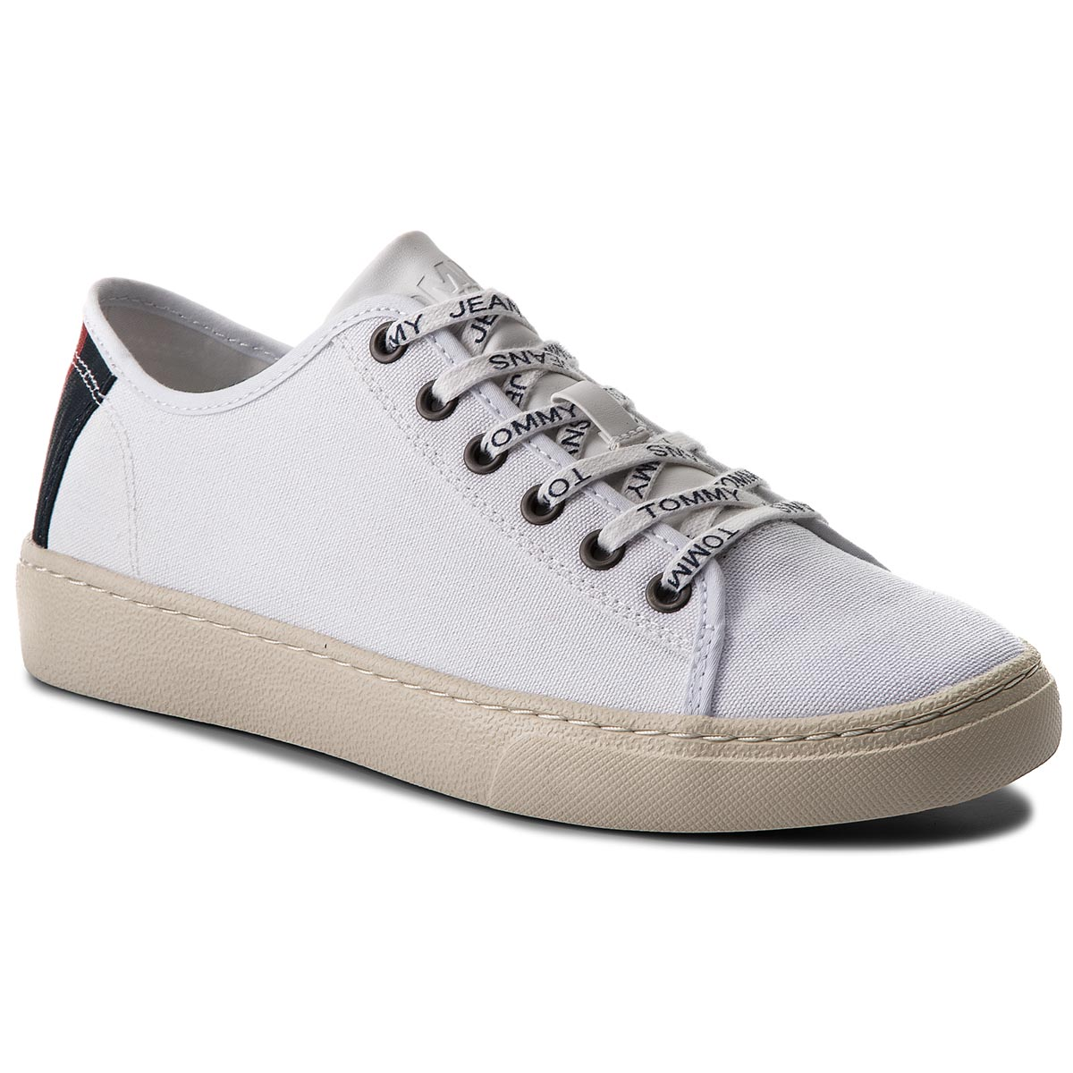 Laisvalaikio batai TOMMY JEANS - Light Textile Low EM0EM00102 White 100