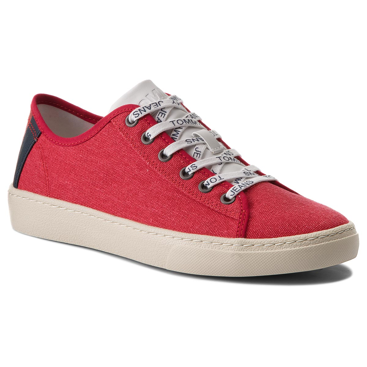 Laisvalaikio batai TOMMY JEANS - Light Textile Low EM0EM00102  Tommy Red 645