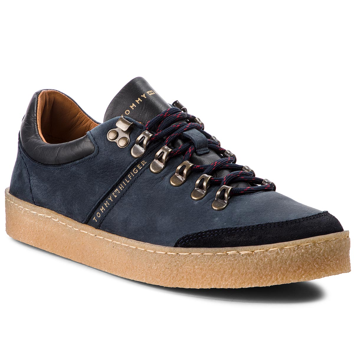 Laisvalaikio batai TOMMY HILFIGER - Crepe Outsole Hiking FM0FM01676 Midnight 403