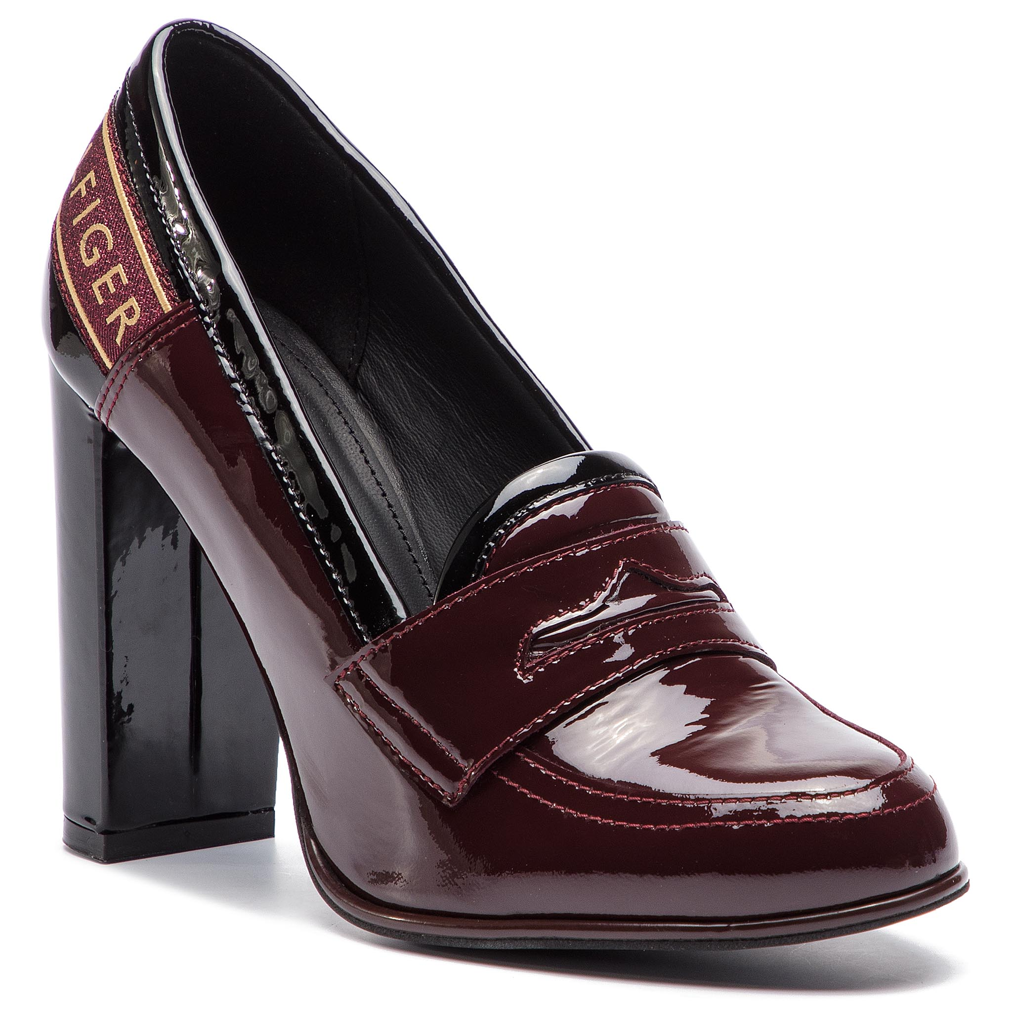 a5f8cfe7932 Bateliai TOMMY HILFIGER - Iconic Patent Loafer FW0FW04003 Decadent  Chocolate 296