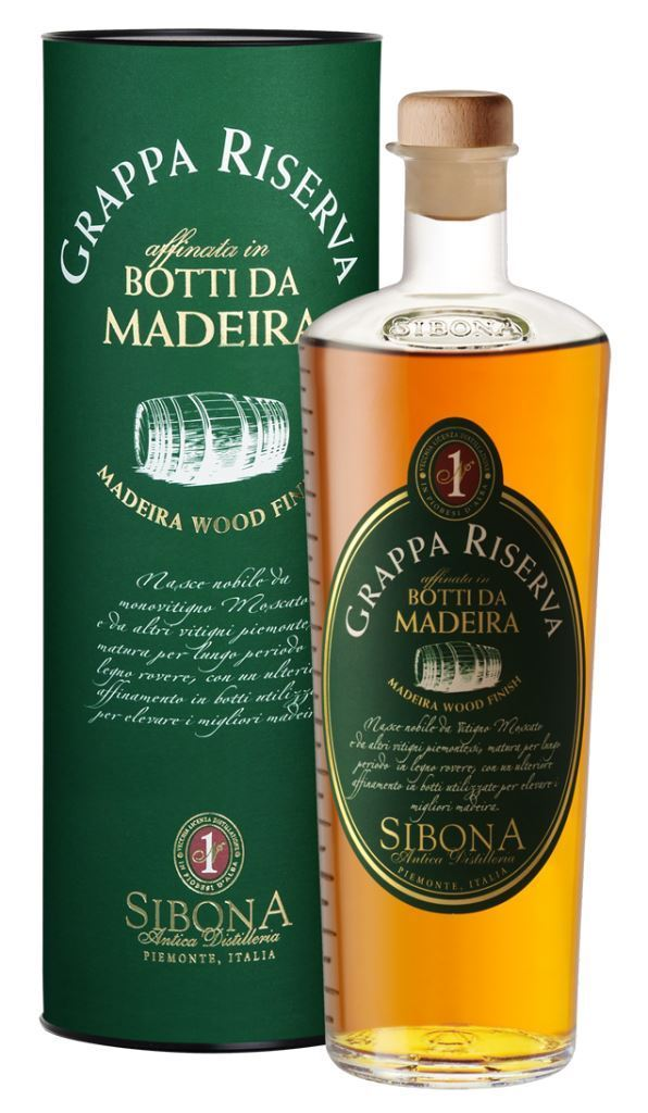 SIBONA Grappa Riserva affinata in botti da Madeira 1,5 l