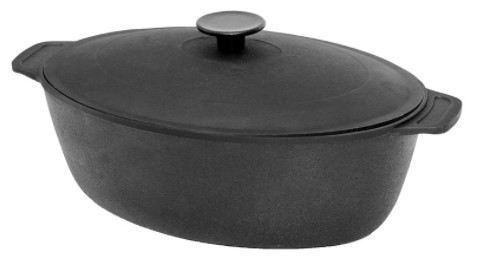 Biol Casting Iron Roaster with Lid SC022 8l